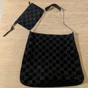 Vintage Gucci Suede Shoulder Bag